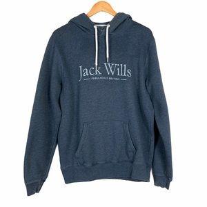 Jack Wills Pullover Hoodie Sweatshirt Medium Blue
